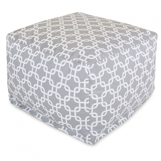 Grey Links Large Outdoor Ottoman