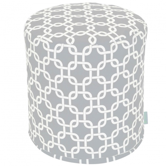 Grey Links Small Outdoor Pouf