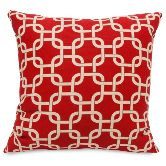 Red Links Large Outdoor Pillow