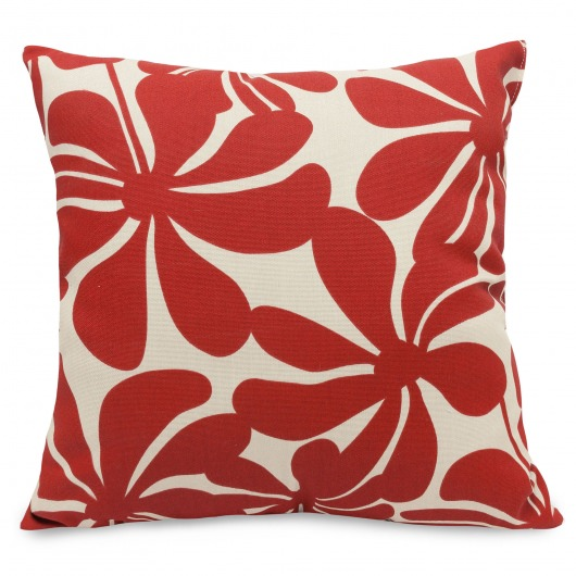 Red Plantation Large Outdoor Pillow
