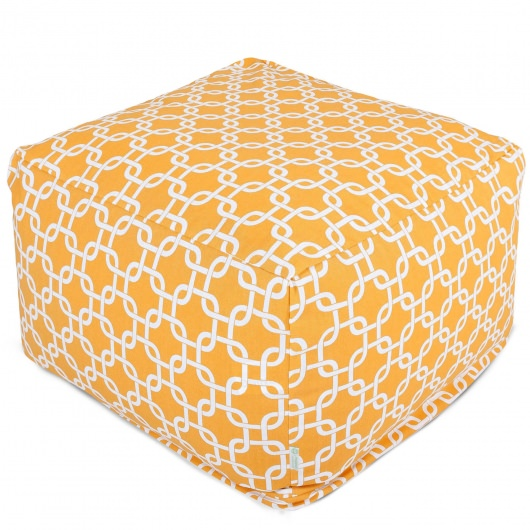 Yellow Links Large Outdoor Ottoman