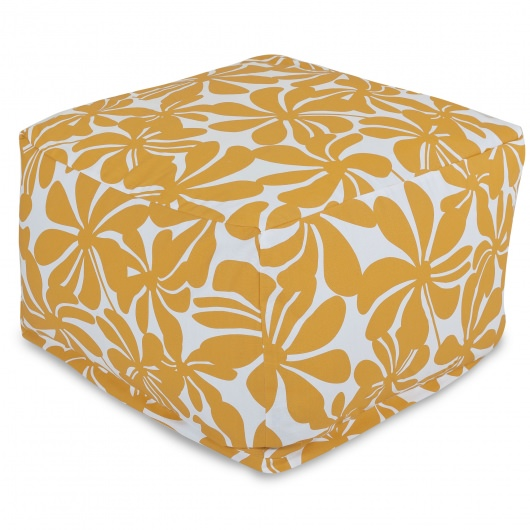 Yellow Plantation Large Outdoor Ottoman