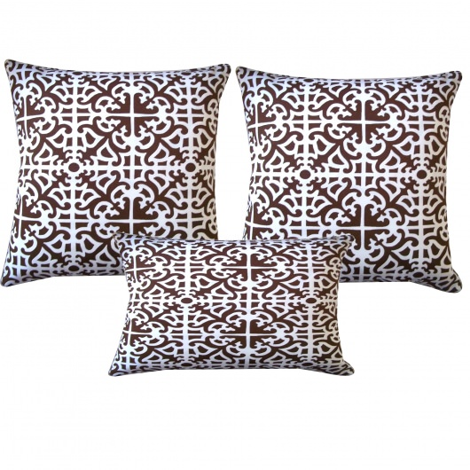 Brown Malibu Outdoor Pillow Set