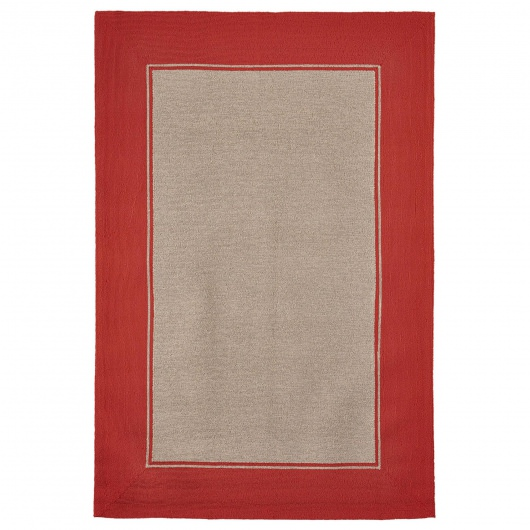 Napoli Border Indoor/Outdoor Rug Blush