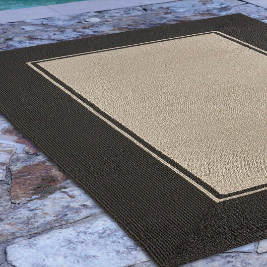 Napoli Border Indoor/Outdoor Rug Gray