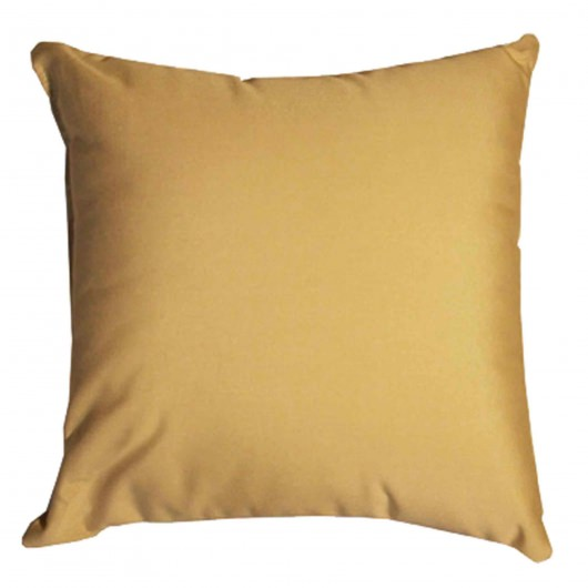 Tan Sunbrella Outdoor Throw Pillow (16 in. x 16 in.)