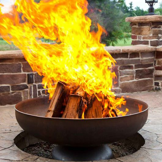 Ohio Flame Patriot Line Fire Pit with Natural Steel Finish
