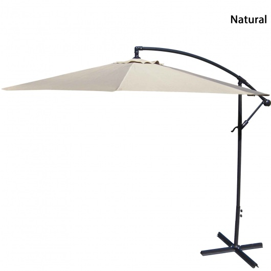 10ft Offset Umbrella in 12 Colors