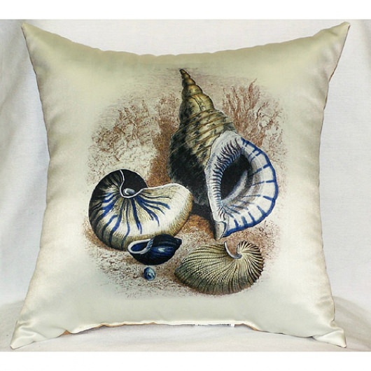 Antique Three Shells Outdoor Pillow