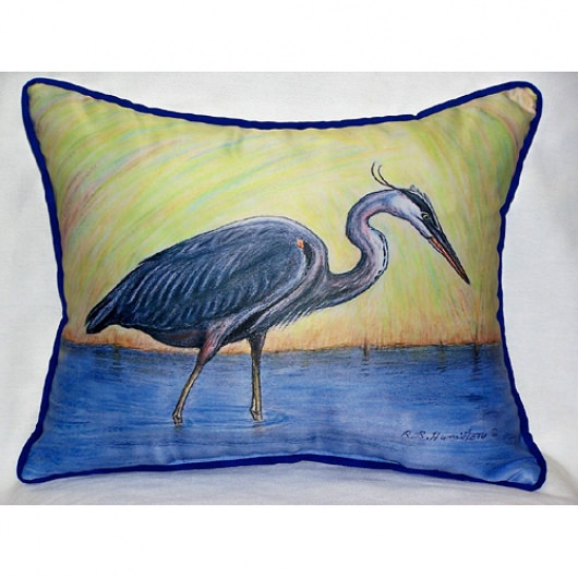 Blue Heron Outdoor Pillow