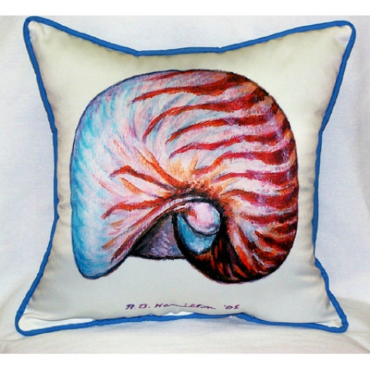 Nautilus Art Outdoor Pillow 18in x 18in