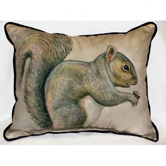 Squirrel Art Outdoor Pillow 16 in. x 20 in.