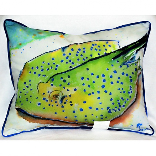 Stingray Art Outdoor Pillow 16 in. x 20 in.