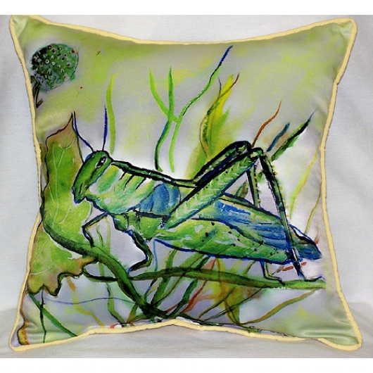 Grasshopper Art Outdoor Pillow 18in x 18in