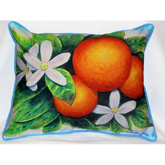 Oranges Art Outdoor Pillow