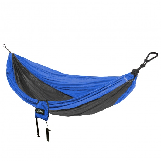 Double Travel Hammock - Blue/Charcoal