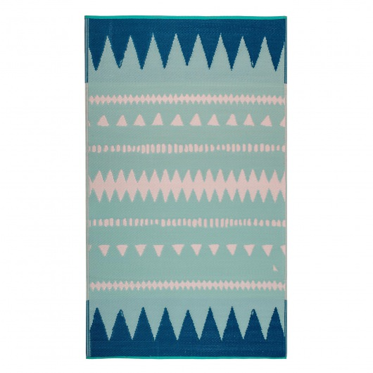 Palm Springs Teal Outdoor Mat