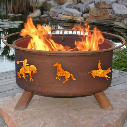 Patina Products Natural Rust Western Fire Pit