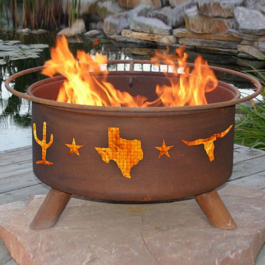 Patina Products Natural Rust Lone Star Texas Fire Pit