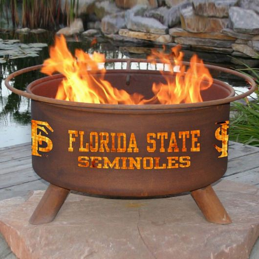 Patina Products Natural Rust Florida State Fire Pit