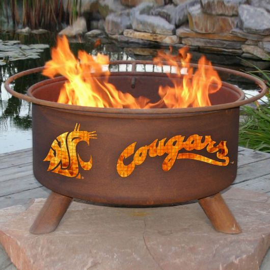 Patina Products Natural Rust Washington State Fire Pit