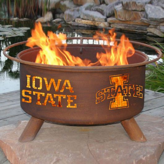 Patina Products Natural Rust Iowa State Fire Pit