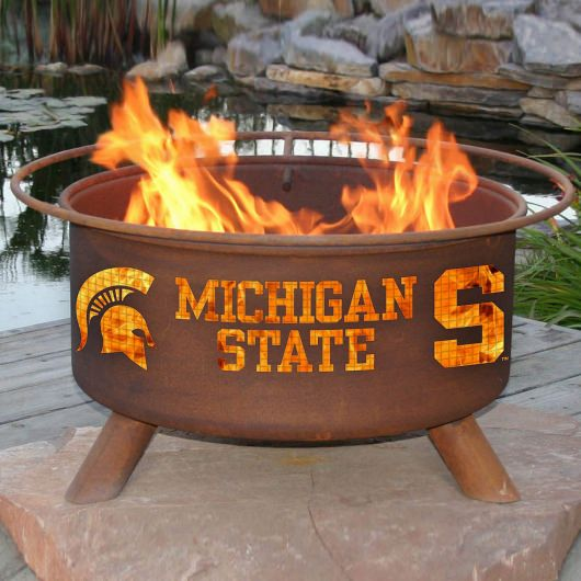 Patina Products Natural Rust Michigan State Fire Pit