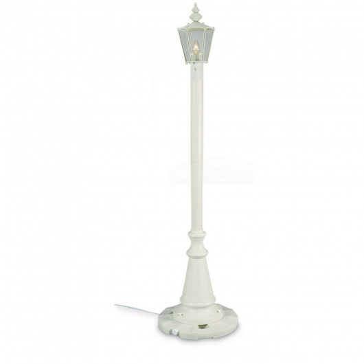 White Cambridge Single Lantern Patio Lamp