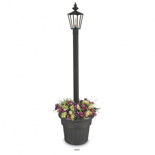 Islander Single Flame Citronella Patio Lantern with Planter Base