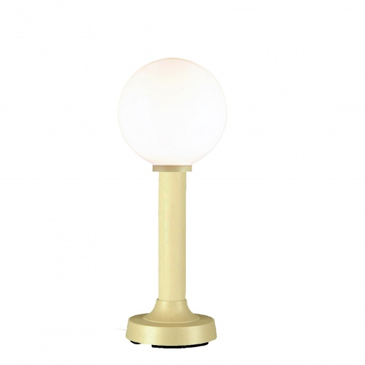 Moonlite White Globe Outdoor Table Lamp with Bisque Finish