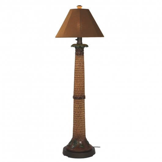 Palm Outdoor Floor Lamp with Sunbrella Shade