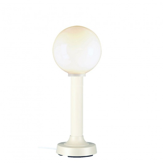 White Moonlite Outdoor Globe Table Lamp with White Globe