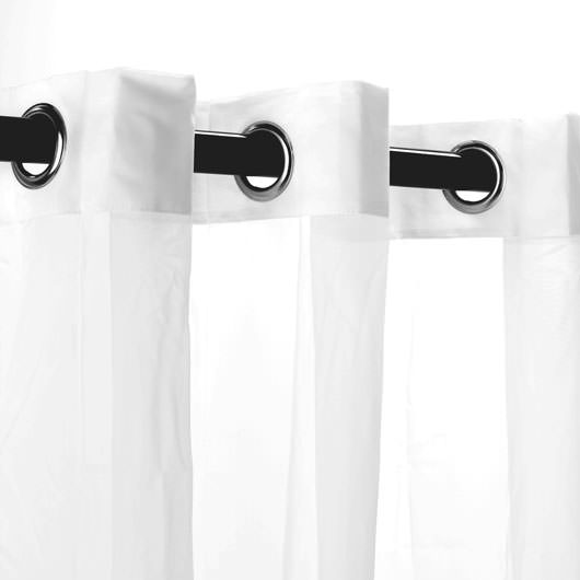 White Escape Outdoor Curtain with Grommets