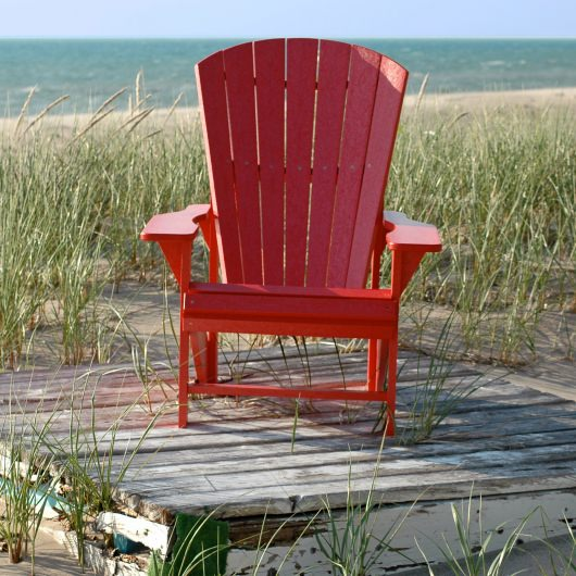 Poly lumber Adirondack Chair and Headrest Combo