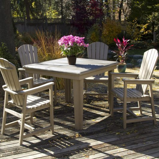 Poly lumber Adirondack Dining Height Table