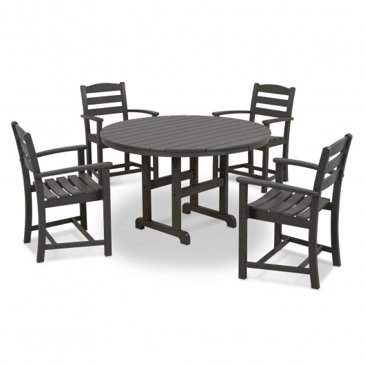 La Casa Cafe 5-Piece Dining Set with Arms