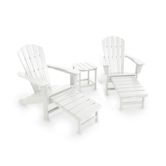 South Beach Ultimate Adirondack 3-Piece Set  in White