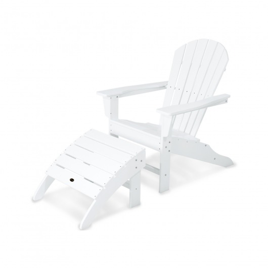 South Beach Adirondack 2-Piece Set  in White