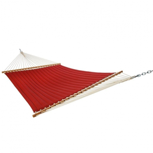 Large Quilted Hammock - Solid Red