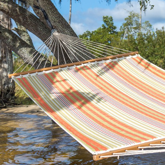 Quilted Hammock Orange Stripe