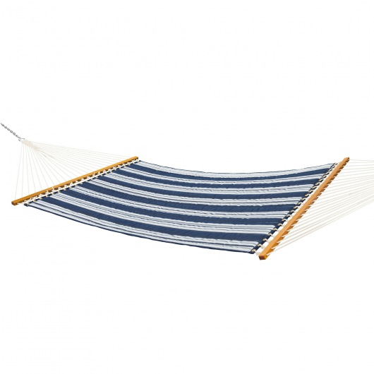 Large Quilted Fabric Hammock - Anchor Navy