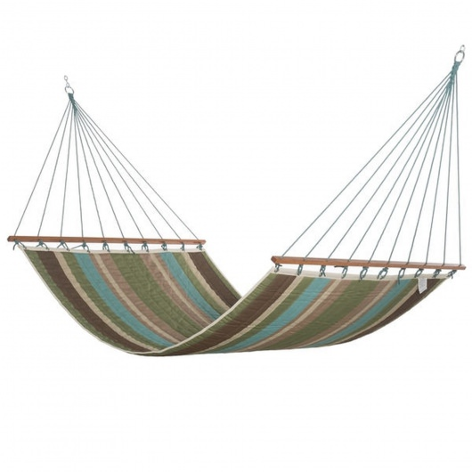 Large Multicolor Stripe Quilted Hammock