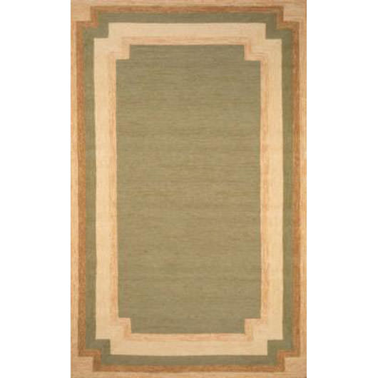 Ravella Border Green Outdoor Rug