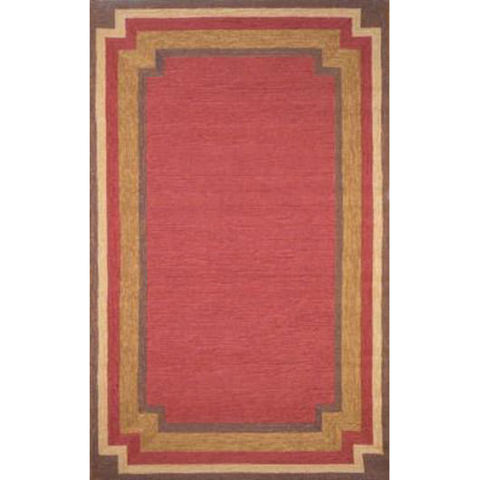 Ravella Border Red Outdoor Rug