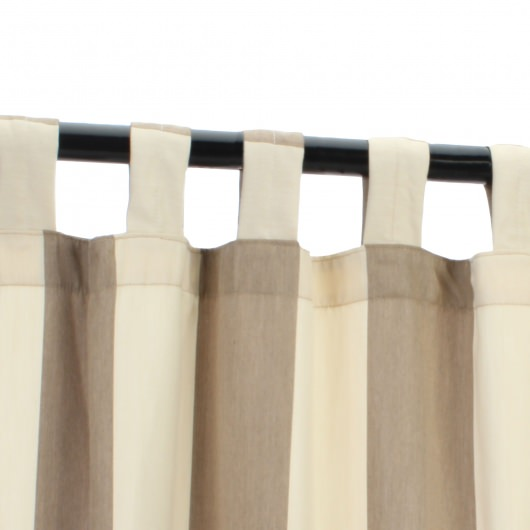 Sunbrella Regency Sand Outdoor Curtain with Tabs