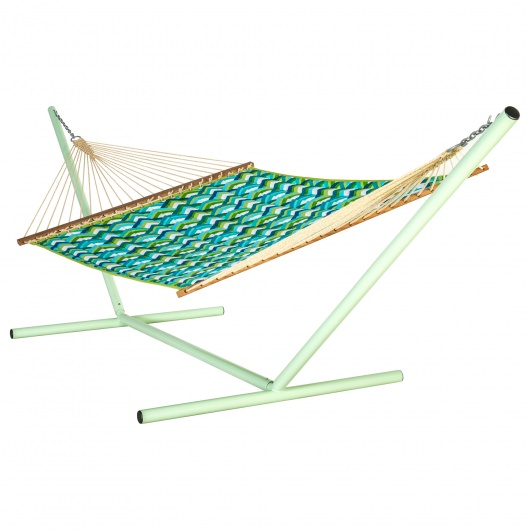 Resort Peacock Large Quilted Hammock Made in USA with Reversible Sunbrella Fabric
