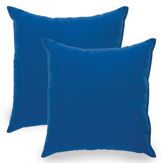 Royal Blue Indoor/Outdoor Throw Pillow - Set of Two