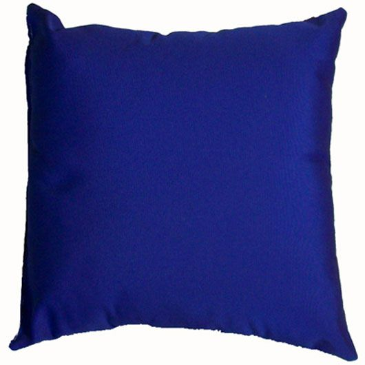 Royal Blue Sunbrella Outdoor Throw Pillow 18 in. x 18 in. Square