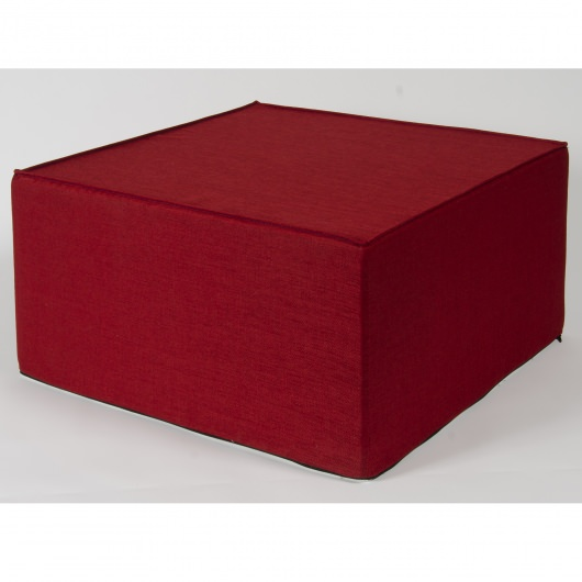 Softblock Outdoor Outdoor Ottoman- Very Berry