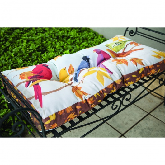 Flocked Together in The Fall Bench Cushion (42